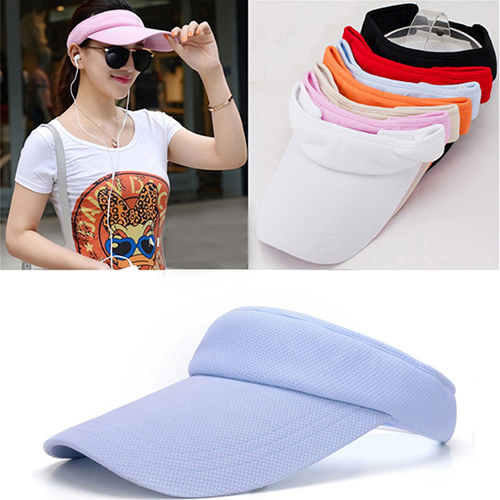 Girl12Queen Women's Adjustable Sunhat Plain Sports Mesh Visor Cap Tennis Golf Beach Hat