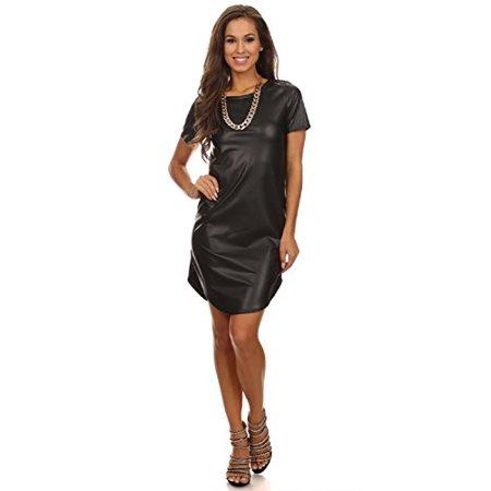 2Chique Boutique Women's Leather Body con Dress - Stardust Dress Boutique