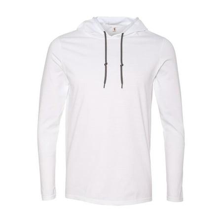 987 Anvil T-Shirts - Long Sleeve Lightweight Long Sleeve Hooded (Reason Hooded T-shirt)