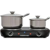Farberware Royalty 1500 W Double Burner Black Electric Cooktop