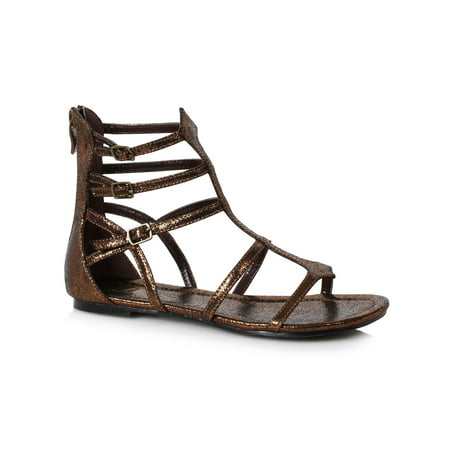 Gladiator Halloween (Women's Bronze Gladiator Sandal Halloween Costume)