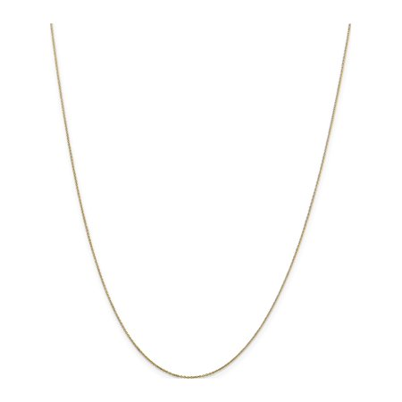 10k Yellow Gold .6mm Solid D/C Cable Chain - image 5 of 5