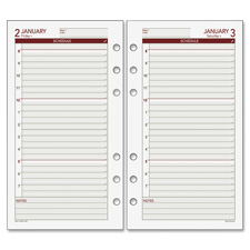 "Daily Planner Refills,6-Hole Punched,2PPD,6-3/4""x3-3/4"",WE, Sold as 1 Each"