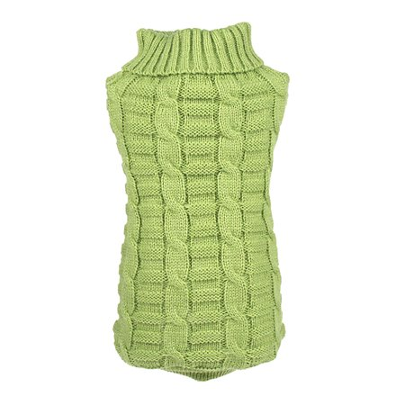 Small Pet Dog Clothes Puppy Cat Sweater Knit Coat Apparel Costumes Green, XXL (Costume Apparel)