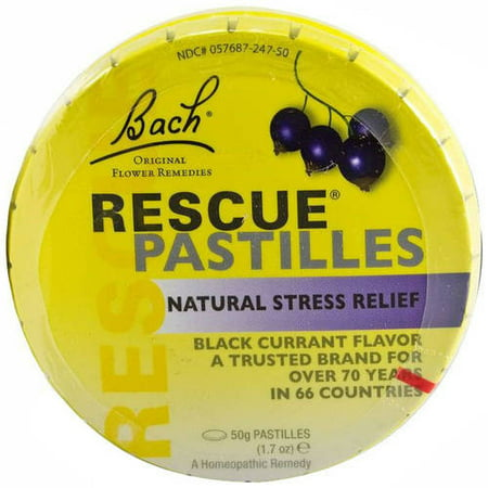 Bach Rescue Remedy Stress Relief Pastilles, Black Currant, 35