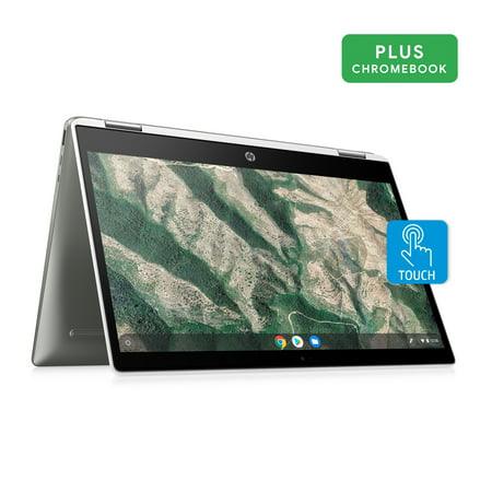 HP X360 14u0022 Pentium Touch 4GB/128GB Chromebook, 14u0022 HD Touch Display, Intel Pentium Silver N5000, 4GB RAM, 128GB eMMC, Intel UHD Graphics 600, 14b-ca0061wm
