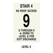INTERSIGN NFPA-PVC1812(4GN9) NFPASgn,StairId4,FlrLvl9,FlrsSrvd1 to 9 G0264026