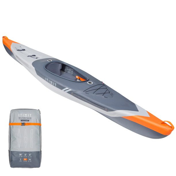 ITIWIT by DECATHLON - Itiwit X500, Inflatable Touring Sit-in Kayak, 1 Person
