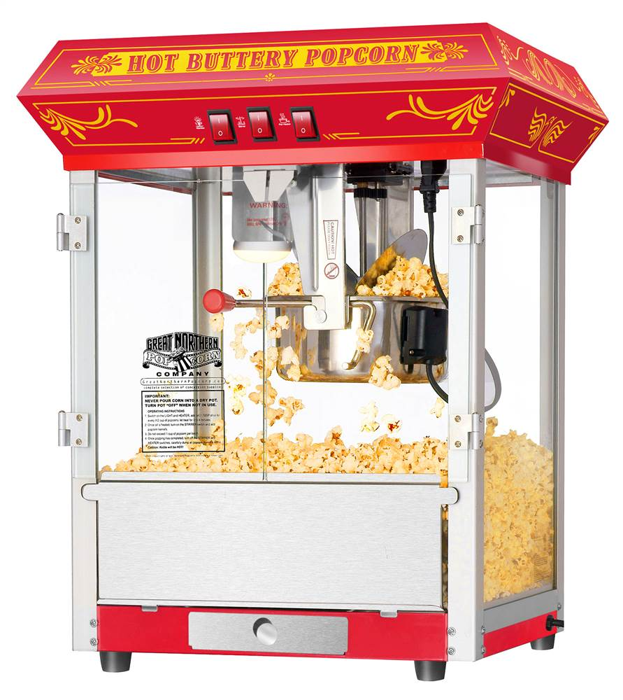 8 Ounce Countertop Popcorn Popper Machine in Red by Dtx International