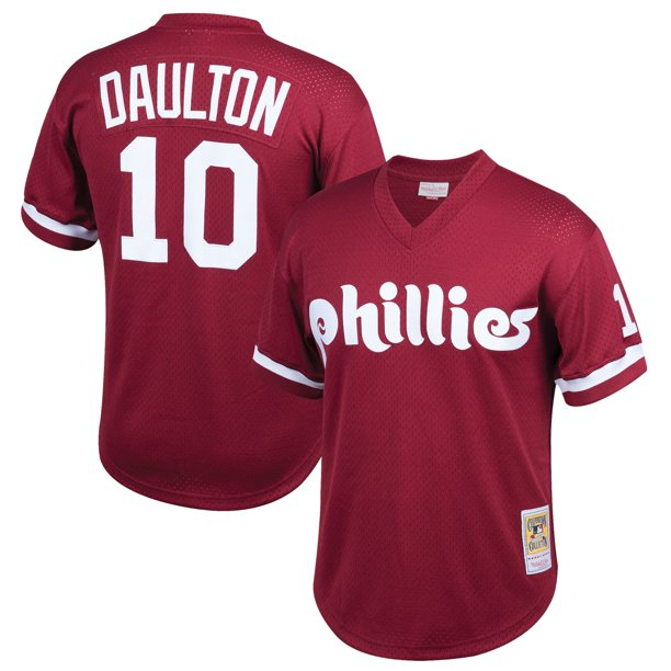 Darren Daulton Philadelphia Phillies Mitchell & Ness Youth Cooperstown Collection Mesh Batting Practice Jersey -