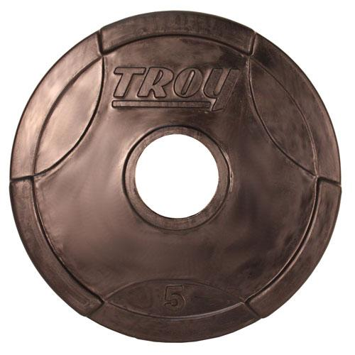 Troy Barbell 5 lb. Interlocking Rubber Grip Plate
