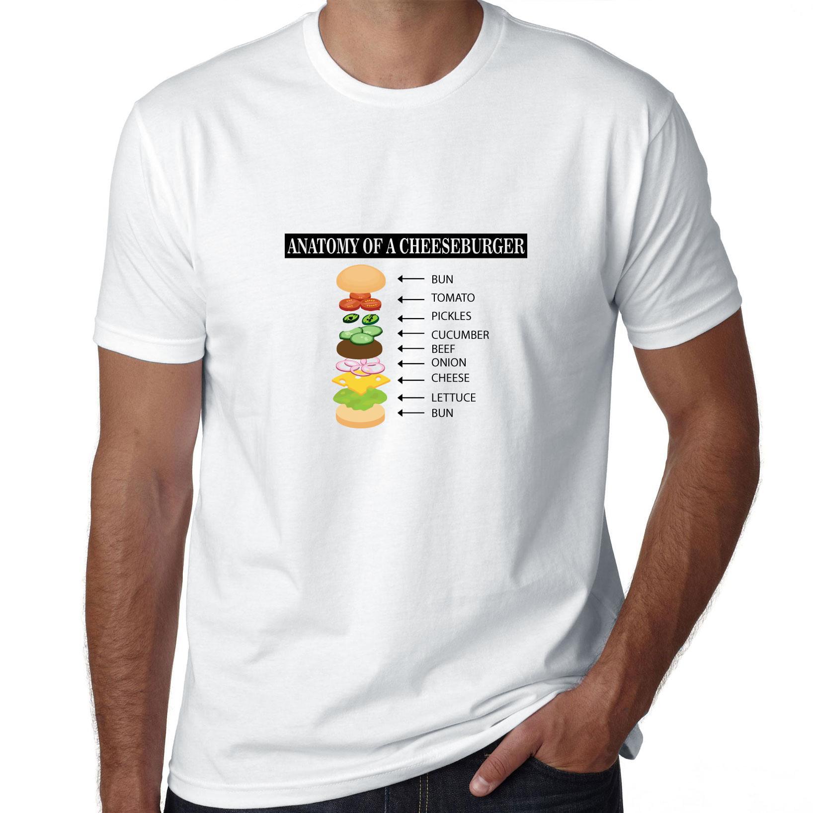 Anatomy Of The Cheeseburger Cool Graphic Men's T-Shirt