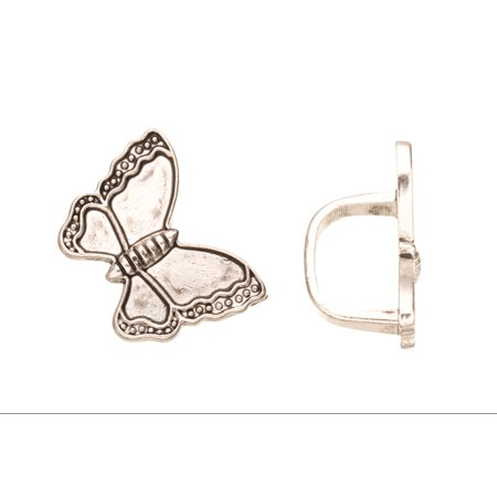 Butterfly Licorice Beads Fits 10x8mm Licorice Leather - Antique Silver Plated](Butterfly Beads)