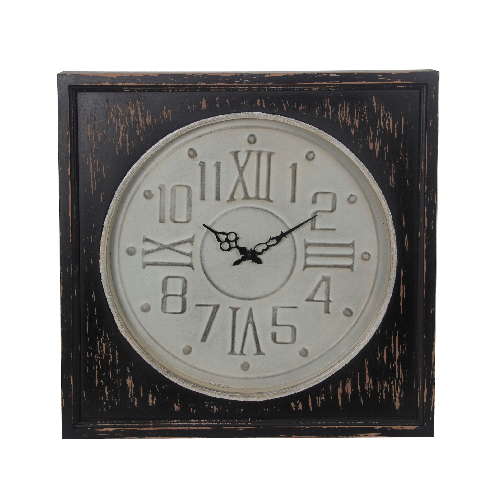 Privilege Metal and Wood Wall Clock