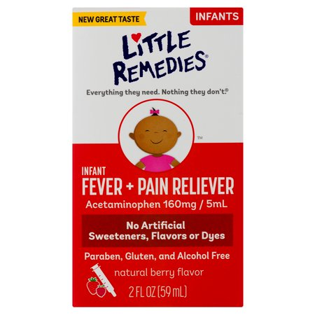 Little Remedies Infant Fever & Pain Reliever, Natural Berry Flavor, 2 FL