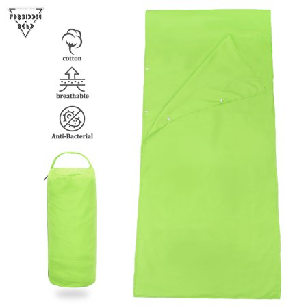 - Forbidden Road Sleeping Bag Liner Sleep Sheet Sleep Sack(Green)