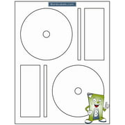 100 Blank Labels CD/DVD Labels for Memorex Software.  Full Face with Small Center Holes Matte Finish.  50 Sheets for Ink Jet & Laser Printer