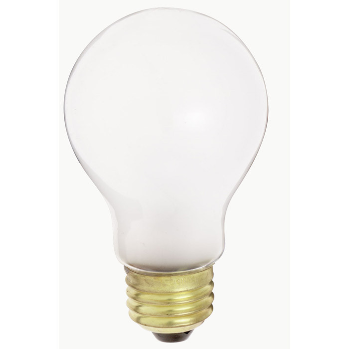 Satco S4077 60W 230V A19 White E26 Medium Base Incandescent light bulb