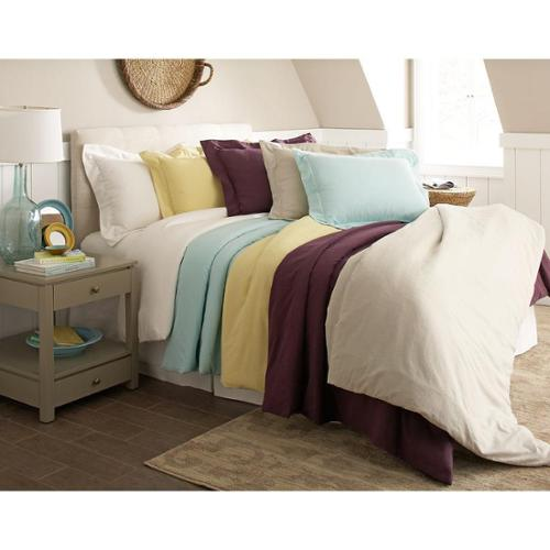 200 GSM Superior Flannel Solid Color Duvet Cover Set King / Cal King Plum