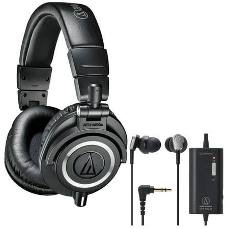 Audio-Technica Professional Studio Headphones  with QuietPoi