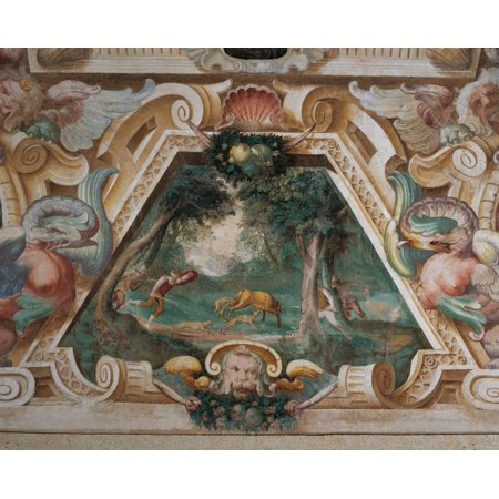 Decoration Of Villa Visconti Borromeo Litta In Lainate Canvas Art - (24 x 18)