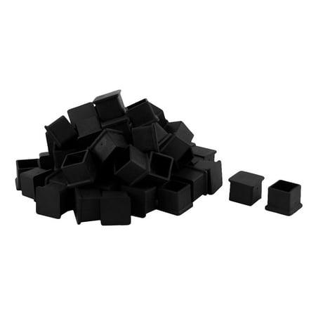 Unique Bargains Home School Rubber Square Chair Furniture Foot Cover Black 22 x 22mm 60 Pcs - image 2 of 2