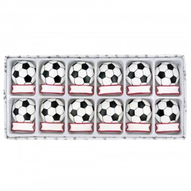 Bulk Buys HH065-36 Decorative Soccer Ball Magnets Set - 3...