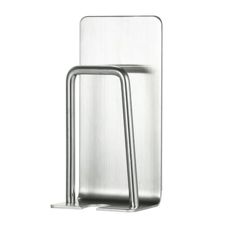 Wall Mounted Toothbrush Holder Stainless Steel Toothbrush Stand Toothpaste Rinse Cup Storage Rack Toothbrushes Holders with Self Adhesive Hook ()