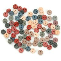Jesse James 7332661 Dress It Up Embellishments-tiny Round Buttons - Country