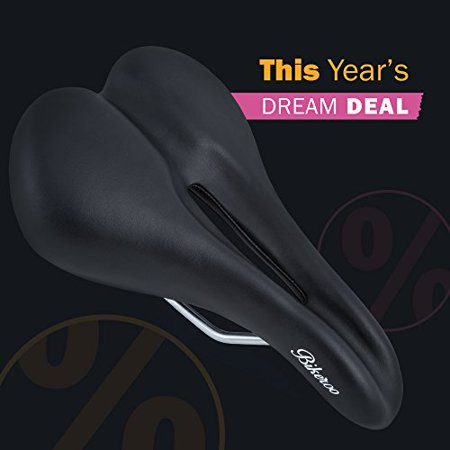 Bikeroo Most Comfortable Bike Seat For Men Padded Bicycle Saddle With Soft Cushion Improves Comfort Mountain Hybrid And Stationary