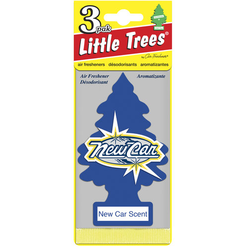 Little Trees Air Freshener, New Car Scent, 3-Packs
