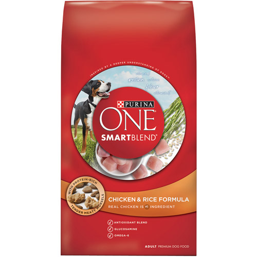 Purina ONE Smart Blend Chicken & Rice Formula Adult Premium Dog Food 4 lb. Bag