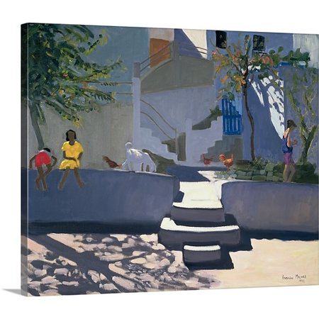 Great Big Canvas Andrew Macara Premium Thick Wrap Canvas Entitled The Yellow Dress  Kos  1993
