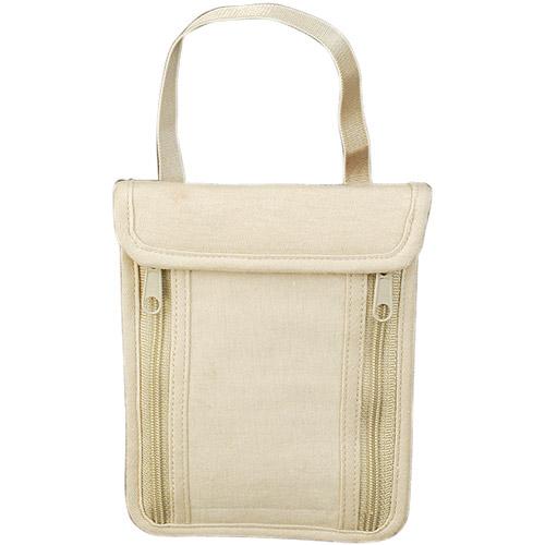 Travelon Security Waist Pouch - Tan Cotton