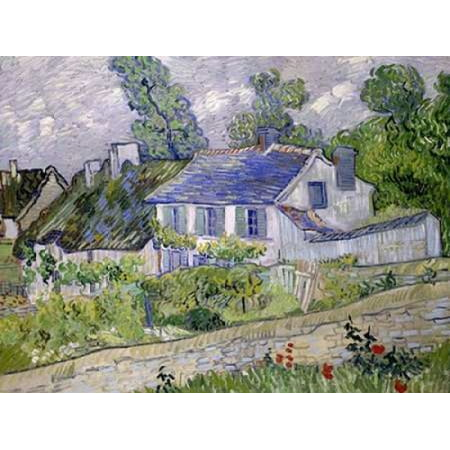 Houses at Auvers Poster Print by Vincent van Gogh Auvers Poster Print
