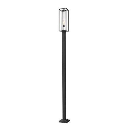 Z Lite 584PHBS-536P-BK 120 in. Dunbroch 1 Light Black Outdoor Post Mounted Fixture - image 1 de 1