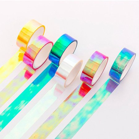 Fancyleo 6 Rolls Glitter Washi Tape Set DIY Paper Scrapbooking Craft Tape Decor - Diy Tape