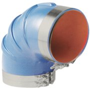 """Trident Blue Silicone """"VHT"""" 90 Degree Elbow with T-Bolt Clamps"""