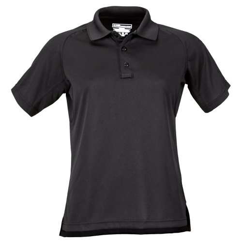 #61165 Women's Performance Polo Shirt, Black, X-Large by 5.11 Tactical