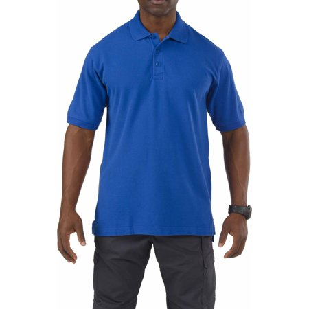 5 11 Tactical Short Sleeve Professional Polo Shirt  Academy Blue