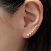 1Pair Rhinestone Crystal Earrings Ear Hook Stud Jewelry Gold