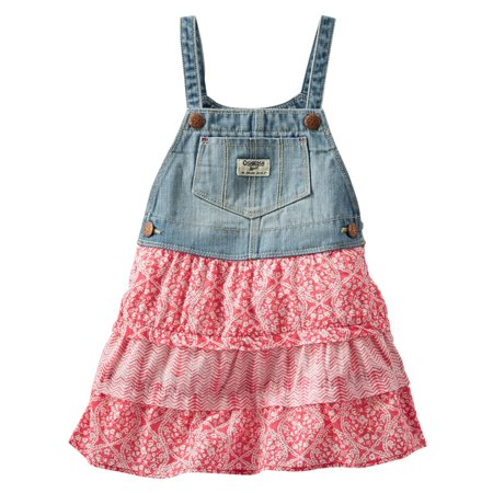Carter's OshKosh B'gosh Toddler Clothing Outfit Little Girls Printed Tiered Jumper ()