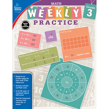 WEEKLY PRACTIVE MATH GRADE 3 WORKBOOK