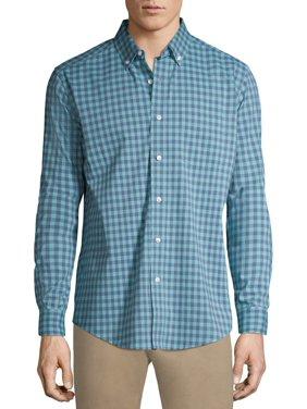 George Men's and Big Men's Button-down Stretch Poplin Long Sleeve Shirt