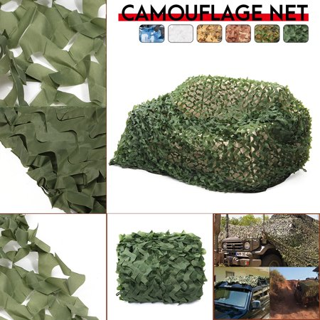 16ft x 8ft Jungle Camouflage Net Woodland Leaves Hide Netting Camo Net Camouflage Military Netting For Camping Military Hunting, All Green Camouflage Hunting Shooting Sunscreen Net