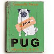 Artehouse LLC Pug by Ken Bailey Vintage Advertisement Plaque