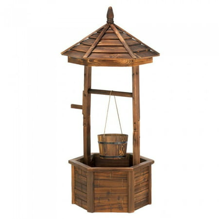 Country Wishing Well - RUSTIC WISHING WELL PLANTER