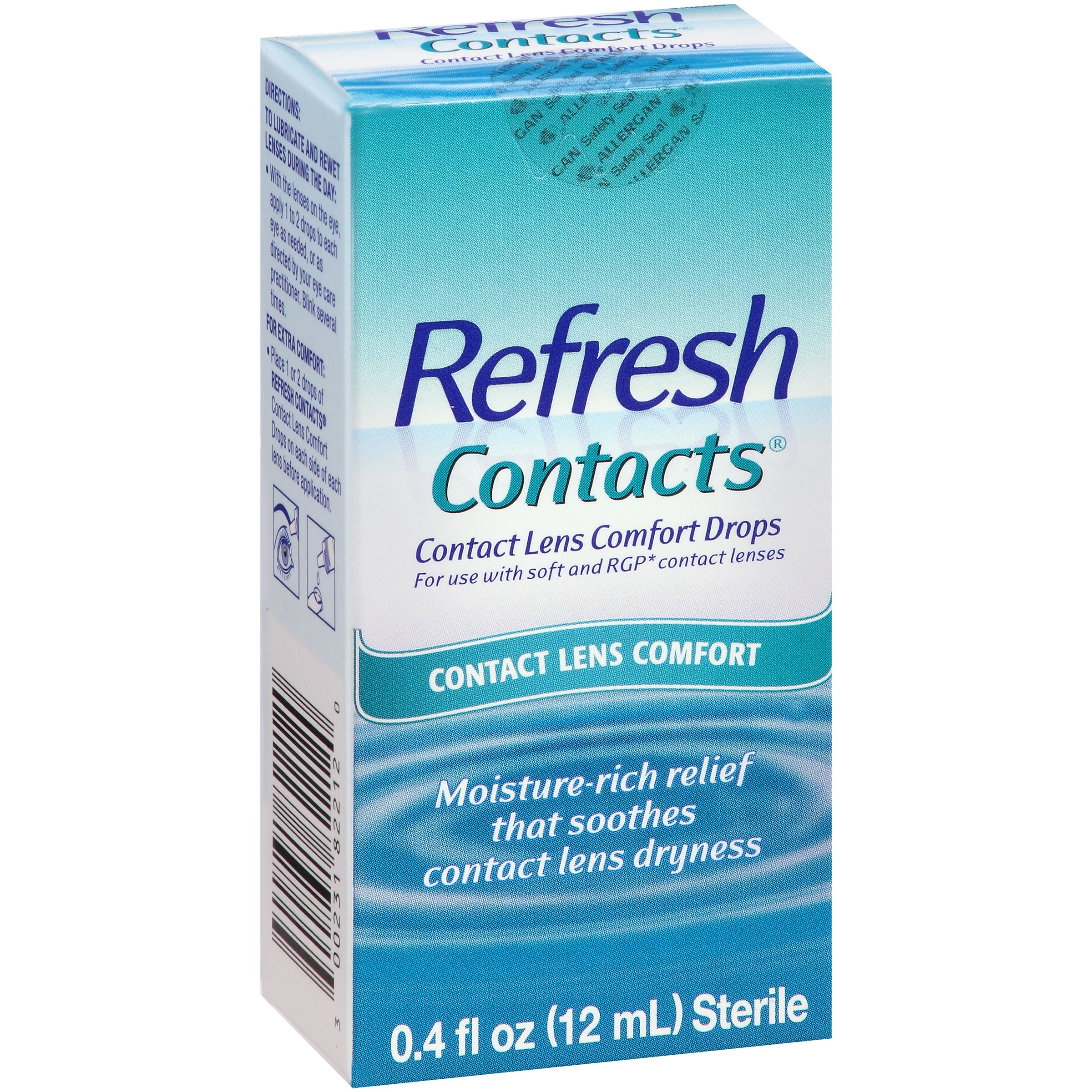 Refresh Contacts® Contact Lens Comfort Eye Drops 0.4 fl. oz. Box