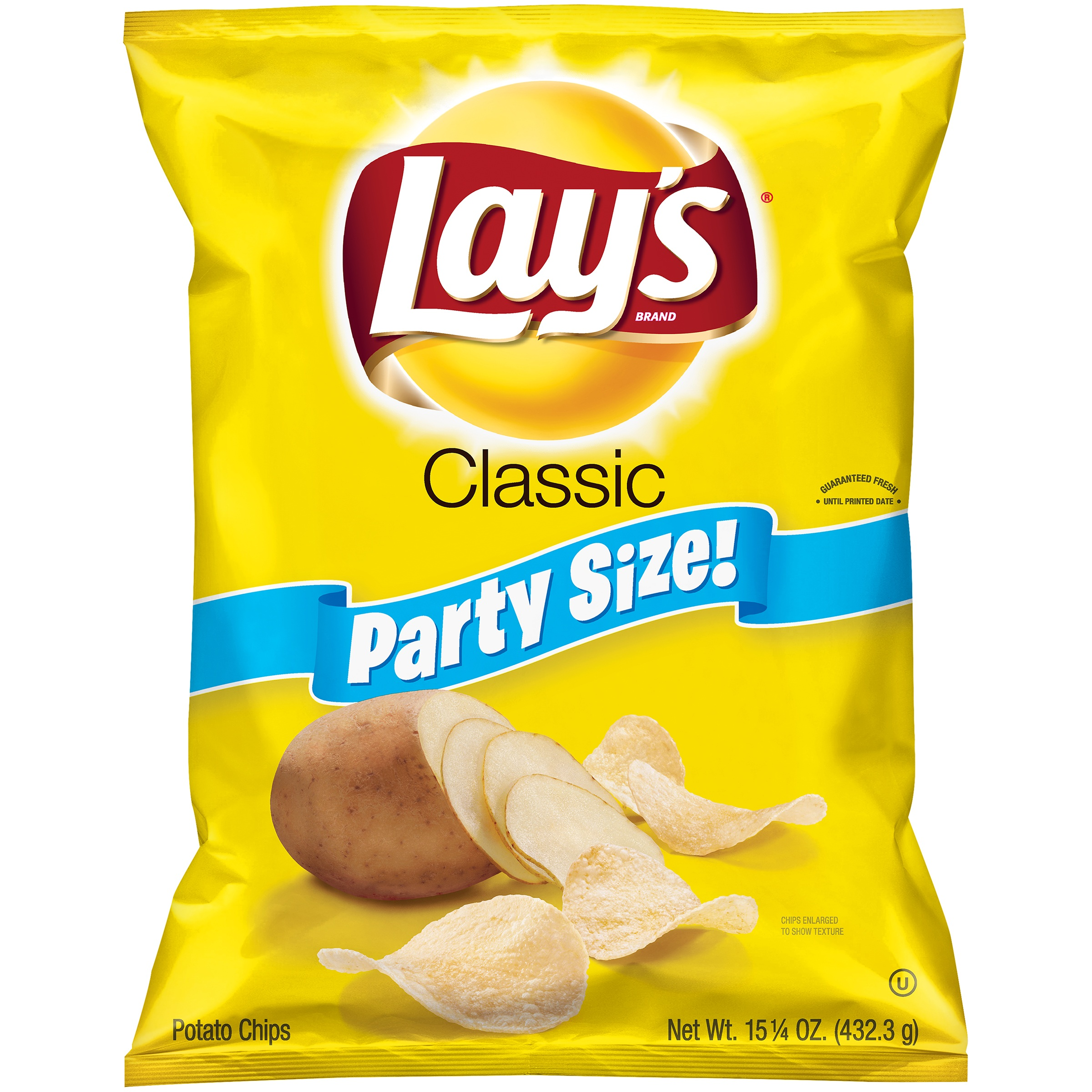 Lay's Potato Chips Party Size, Classic, 15.25 Oz