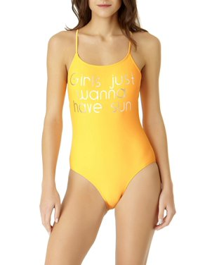 d7533ea46fdb2 Product Image Juniors  Criss-Cross Back Graphic One-Piece Swimsuit. No  Boundaries